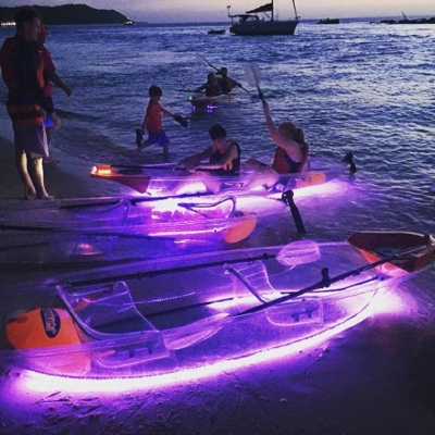 Night Kayaking on Beach
