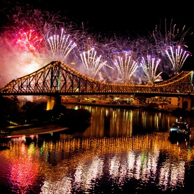 Riverfire view from MICAT, Brisbane River