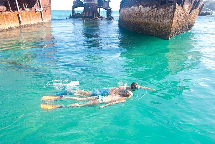 Snorkelling on Moreton Island