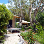 Glamping tents at Castaways on Moreton Island
