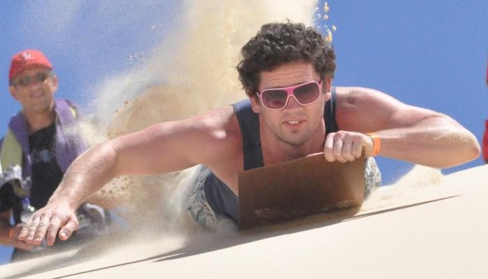 Sandboarding action