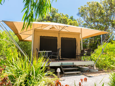 Glamp Tents at Castaways on Moreton Island