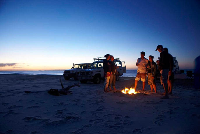 Moreton Island Camping - Campfire Gall 1