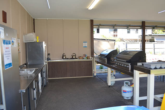The Glamp Kitchen at Castaways on Moreton Island