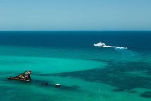 Ferry and wrecks on moreton island