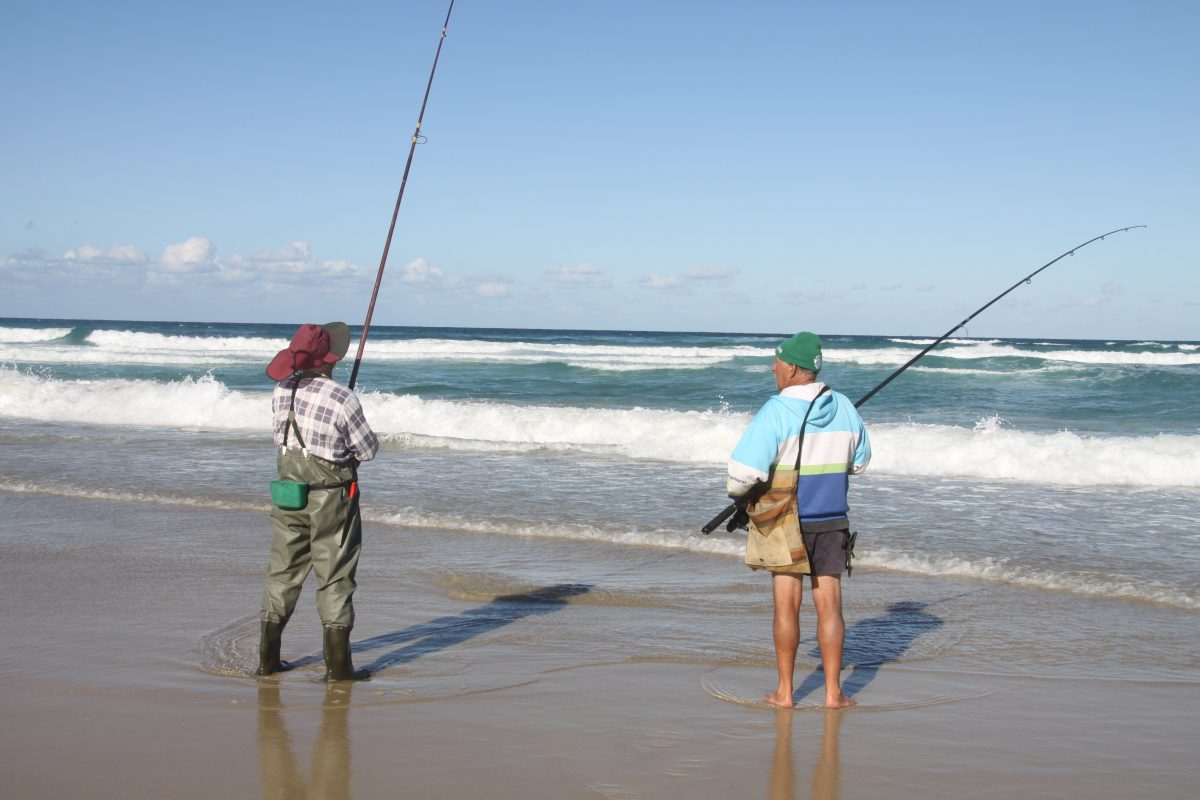 Fishing on Moreton Island