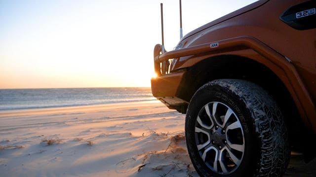4WD on Moreton Island