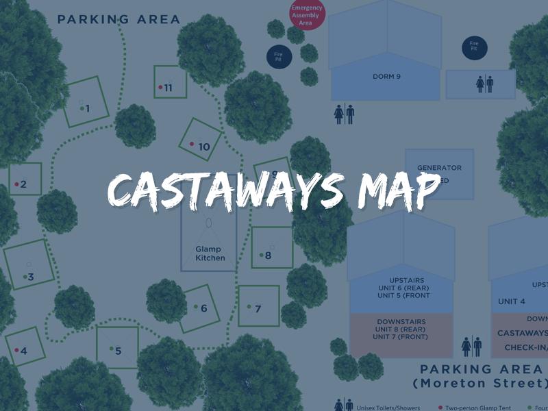Moreton Island Castaways Map
